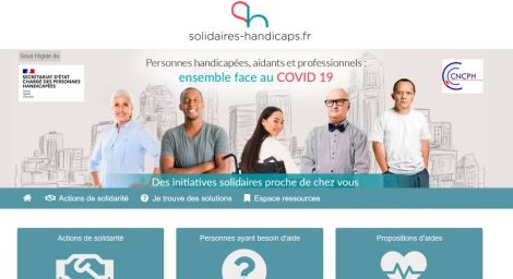 Site internet Solidaires Handicaps