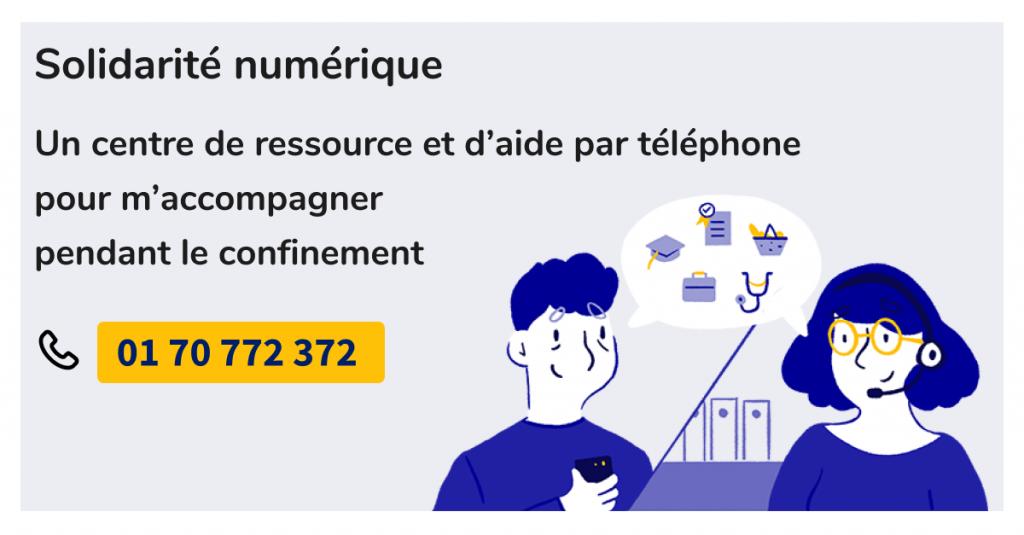 Contactez la plateforme Solidarité Numérique