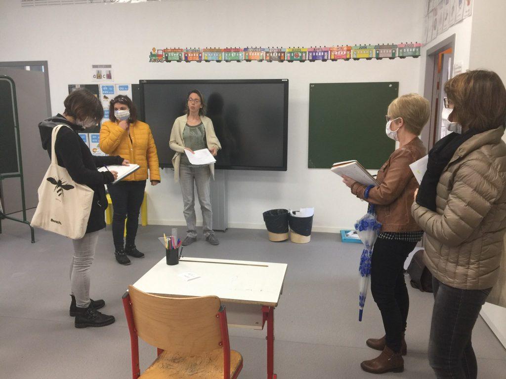 Visite de l'école Victor Hugo.