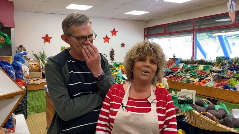 Philippe et Hélène, épicerie Fruits Délices